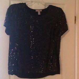 Sequin, short sleeved top